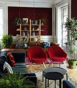 Red for living room